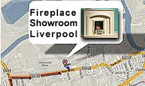 Fireplace warehouse showroom
