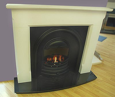 Limestone Cast Fireplace, Liverpool