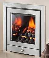 The Montana He 3 sided gas fire