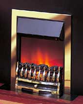 Wynford  in Brass Electric Fire by Dimplex