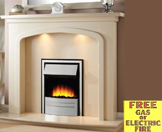 contemporary arch fire surround