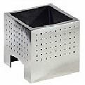 The Cube Gas Basket   Contemporary Fire Baskets