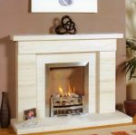 liliana limestone  fireplace