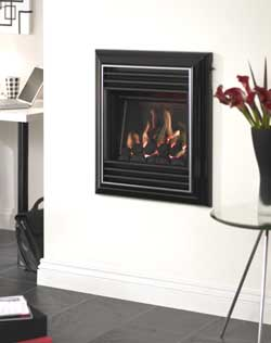 valor harmony gas fire hole in wall