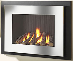 Manhatton glass fronted gas fire, Crystal Fires