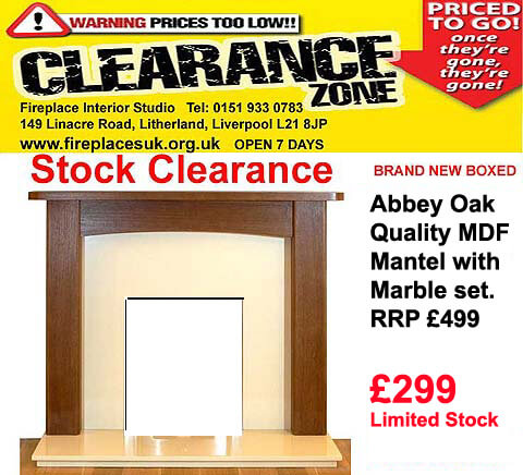 Liverpool fireplace deal just £299