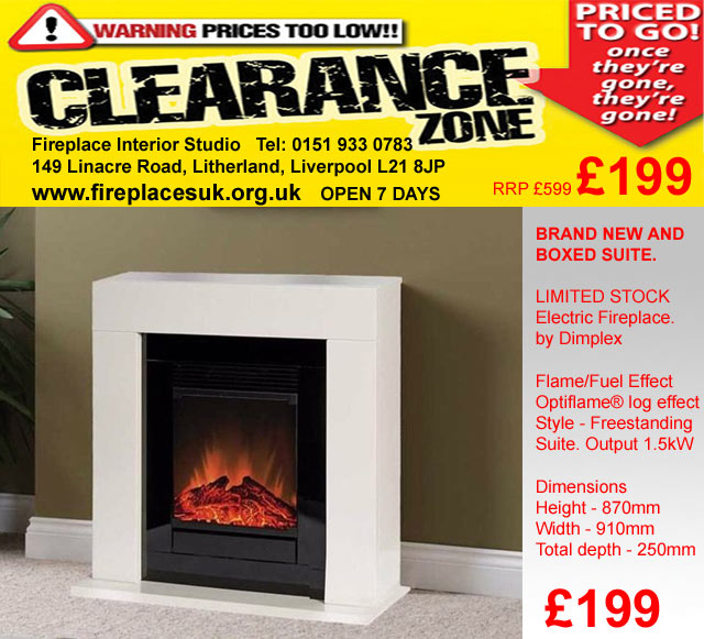 £199 electric fireplace suite